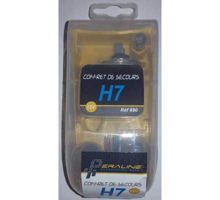 Coffret lampes de secours H7 12V
