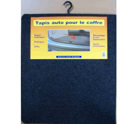 Tapis moquette pour coffre voiture / 66 x 115 cm