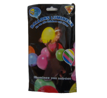 5 Ballons gonflabes lumineux à LED