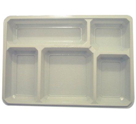 Lot de 50 plateaux repas / 5 compartiments