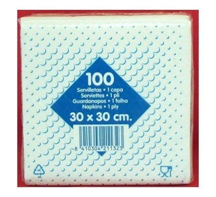 Serviettes de table en papier 1 pli x 100