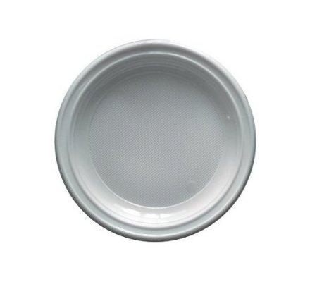 Assiettes en plastique blanc x 50