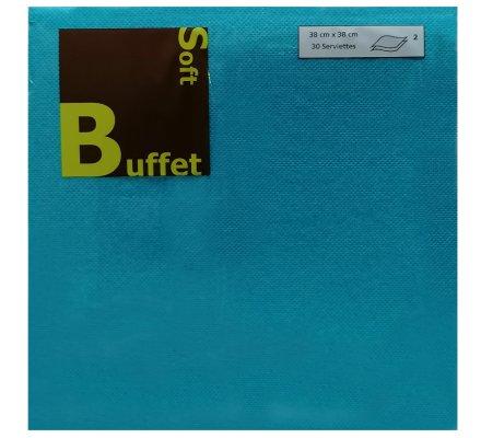 30 serviettes papier 2 plis - turquoise