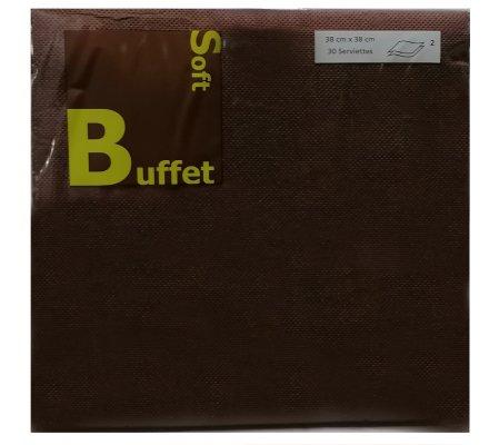 30 serviettes papier 2 plis - chocolat