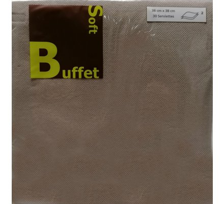 30 serviettes papier 2 plis - taupe