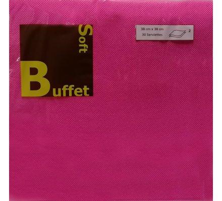 30 serviettes papier 2 plis - fuschia