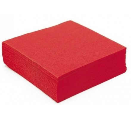 30 serviettes papier 2 plis - rouge