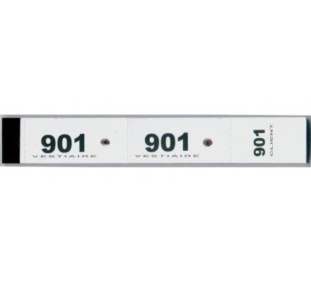 Carnet de 50 tickets ''vestiaire'' /  3 parties numérotées