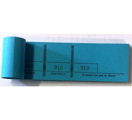 Carnet de 100 tickets numerotés 3 parties