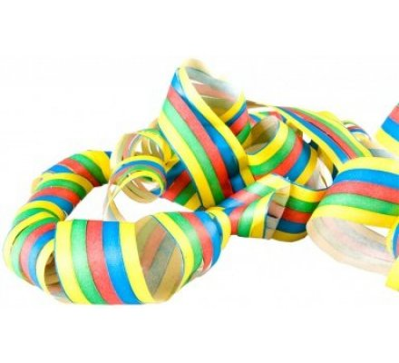 3 rouleaux de 18 serpentins multicolores