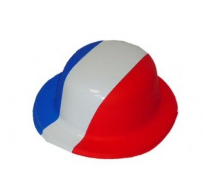 Chapeau Melon Bleu Blanc Rouge
