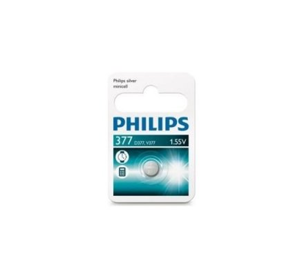 Pile bouton Philips 377