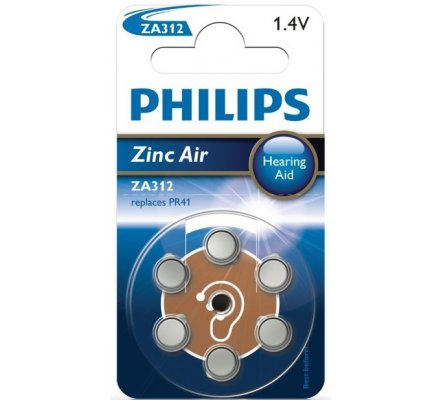6 Piles auditives ZA312