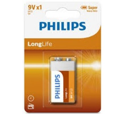 1 pile Long Life 9 V / Philips
