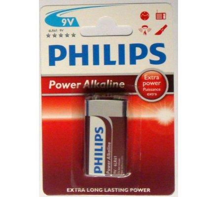 1 pile Alkaline 9 V / Philips