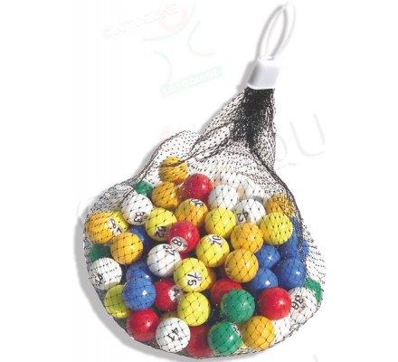 Boules loto numérotées de 1 à 90