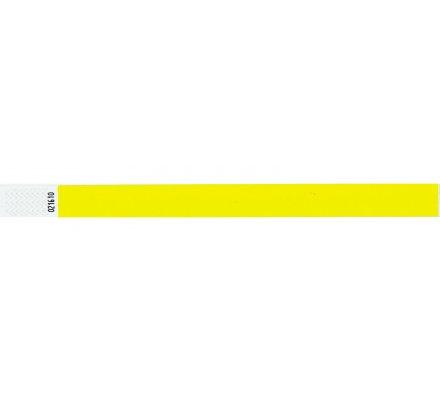 100 bracelets d'identification ''tyvek'' / jaune fluo