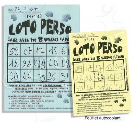 Loto Perso - 250 feuilles