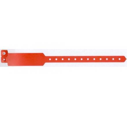 100 bracelets d'identification ''vinyle'' / orange clémentine