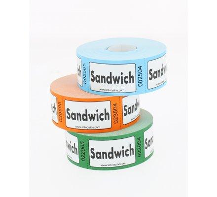 Rouleau de 500 Tickets sandwich