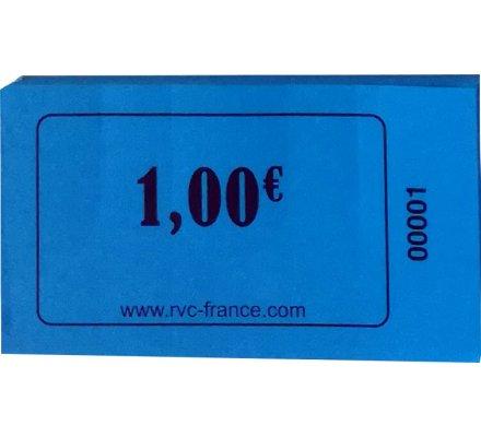 """Carnet de 100 tickets """"1,00€"""""""