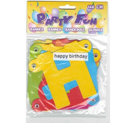 Bannière Happy Birthday