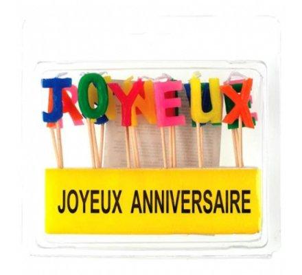 "Bougies ""Joyeux Anniversaire"""