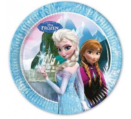 """8 assiettes """"Frozen"""" 20 cm"""