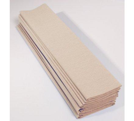 Papier crépon 60 % - 10 feuilles - Ivoire