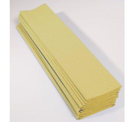 Papier crépon 60 % - 10 feuilles - Jaune paille