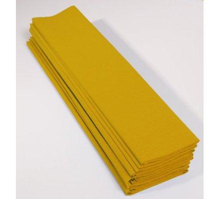 Papier crépon 40 % - 10 feuilles - Jaune citron
