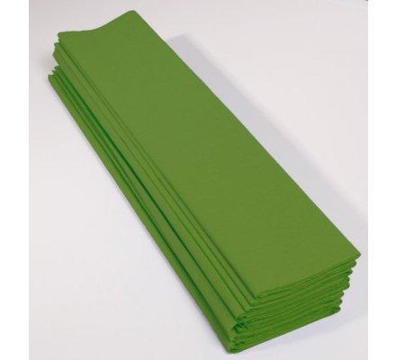 Papier crépon 60 % - 10 feuilles - Vert pomme
