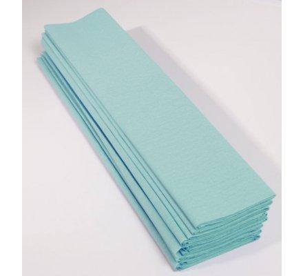 Papier crépon 60 % - 10 feuilles - Bleu turquoise