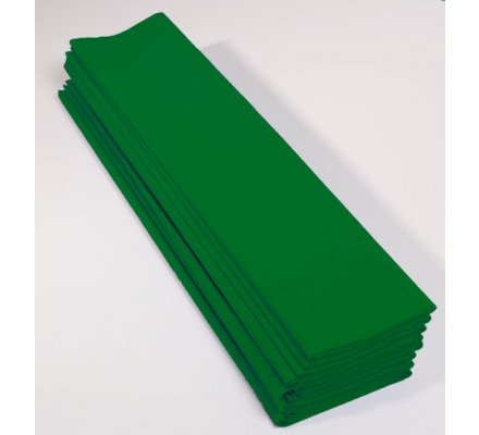 Papier crepon 60 % - 10 feuilles - Vert empire