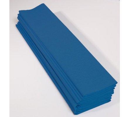 Papier crépon 40 % - 10 feuilles - Bleu pétrole