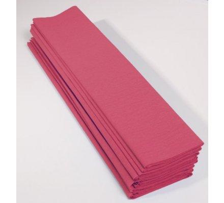 Papier crépon 60 % - 10 feuilles - Rose moyen