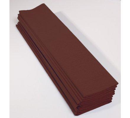 Papier crepon 60 % - 10 feuilles - Chocolat