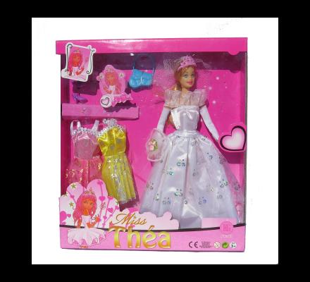 Poupée princesse + 2 robes