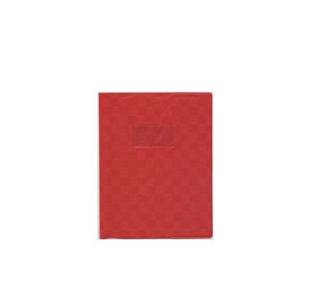 Protège-cahier opaque 24x32 Rouge