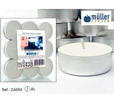Set de 18 bougies thés parfumés antitabac