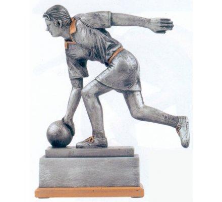 Trophée bowling féminin 20 cm