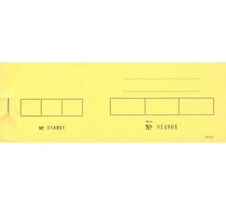 Tickets de tiercé numérotés x 100