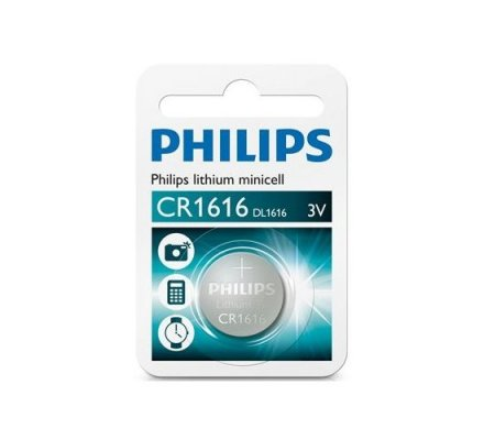 1 pile bouton Philips CR1616 - 3 v