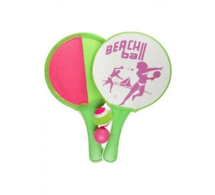 2 raquettes de beach ball velcro