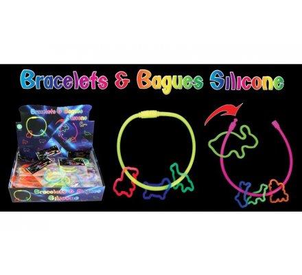 Bracelet x 1 + bagues x 3 en silicone