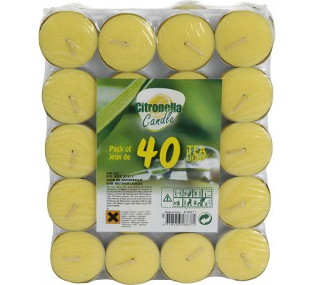 40 bougies à la citronnelle