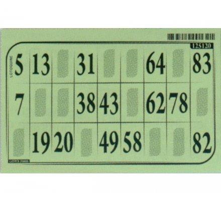 Cartons loto bristol x 125