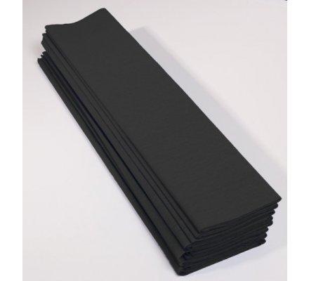 Papier crépon 60 % - 10 feuilles - Noir