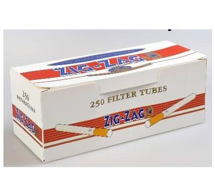 40 boîtes de 250 tubes à cigarettes Zig-Zag